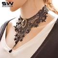 STARWORLD European style Ms. new lace necklace creative large collar jewelry women's clothing accessories fashion maxi necklace