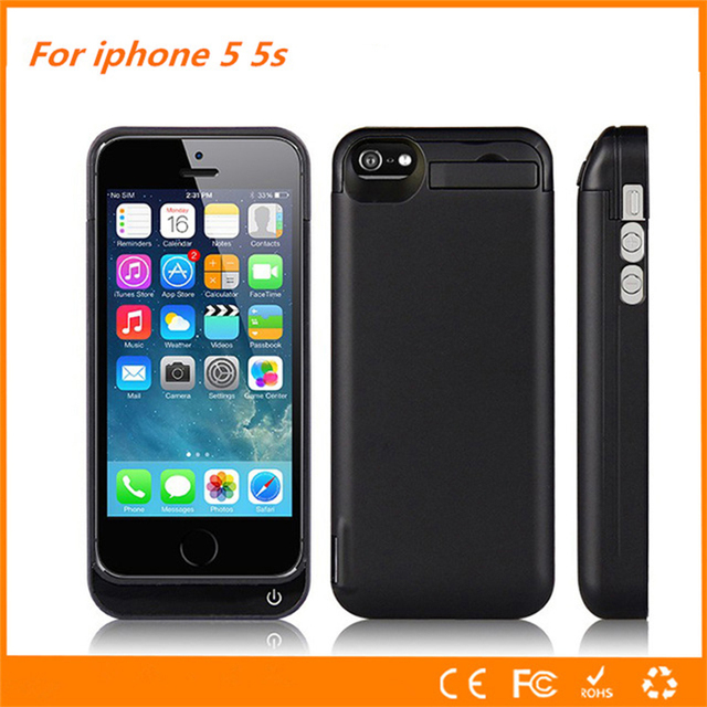 hot sales 15c08 0c756 US $13.04 30% OFF|For iphone 5s Battery Case 4200 Mah Ultra thin Backup  Cover Charge For iphone 5s Battery Case 5 SE Smart Power Case Bank-in  Battery ...