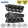 SANNCE 8CH CCTV Security System 1080P HDMI Output DVR Kit 8pcs HD 720P 1 0MP Outdoor