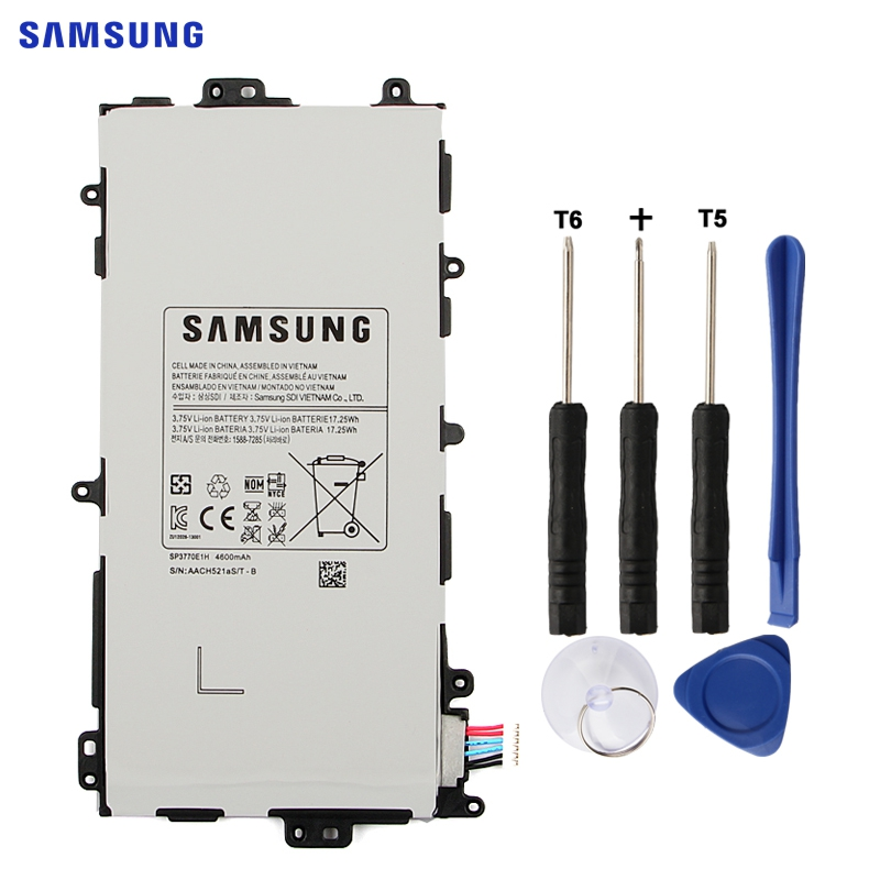 SAMSUNG Original Tablet Battery SP3770E1H For Samsung Galaxy Note 8.0 N5100 N5110 N5120 Authentic Replacement Batteries 4600mAh 2018 new smart wake business luxury slim leather case book cover for samsung galaxy note 8 0 n5100 n5110 n5120 tablet stylus