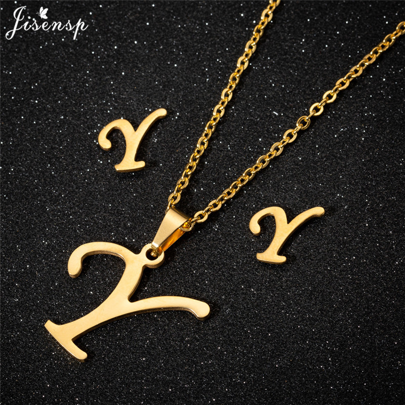 Jisensp Personalized A-Z Letter Alphabet Pendant Necklace Gold Chain Initial Necklaces Charms for Women Jewelry Dropshipping 51