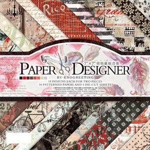 7 ''Single-seite Gedruckt Muster Hintergrund Handwerk Papier Origami Scrapbooking Papier Set von 40 Blätter Karte, Der Damast sammelalbum