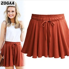 ZOGAA Summer Fat Sister Large Size Loose Skirt Anti-running Wide-legged Shorts sexy shorts women plus size