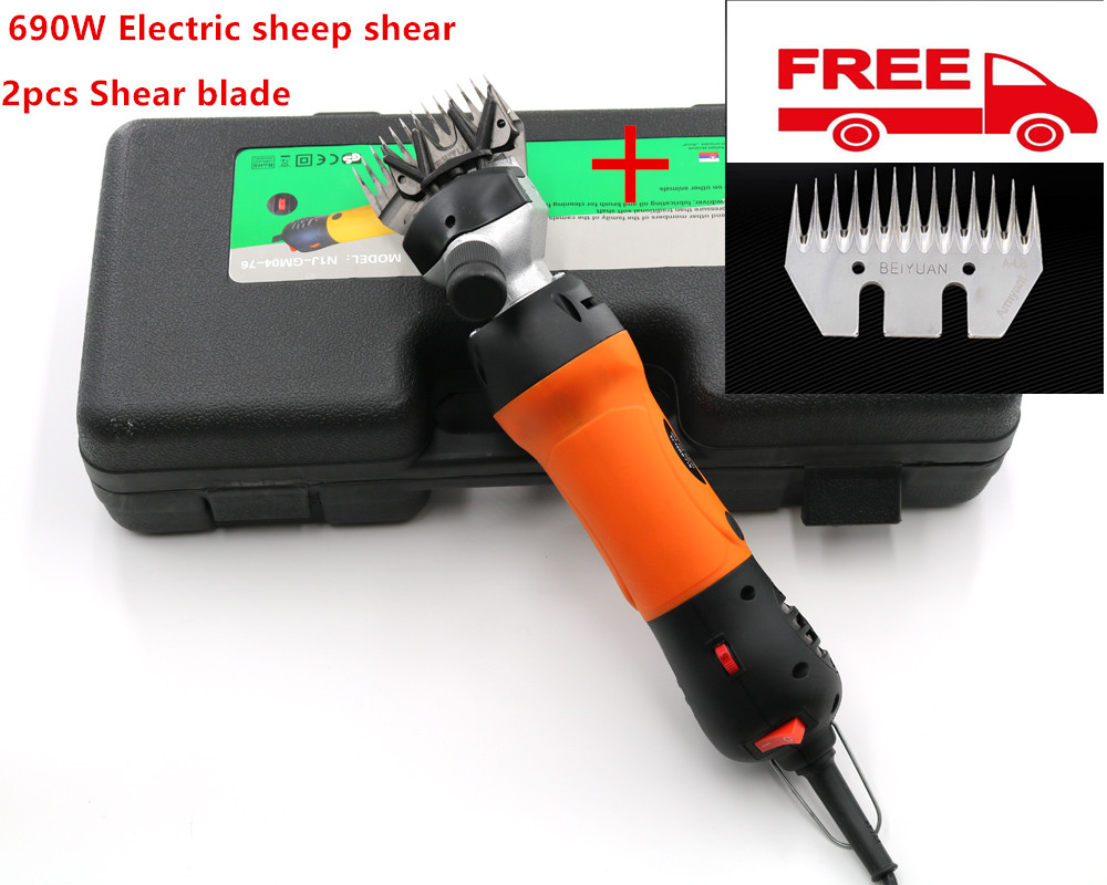2018 New 2pcs Blade 690W Electric Sheep Shearing Clipper Scissors Shears Cutter Goat Clipper  9 teeth 13 teeth blade 220v-240v