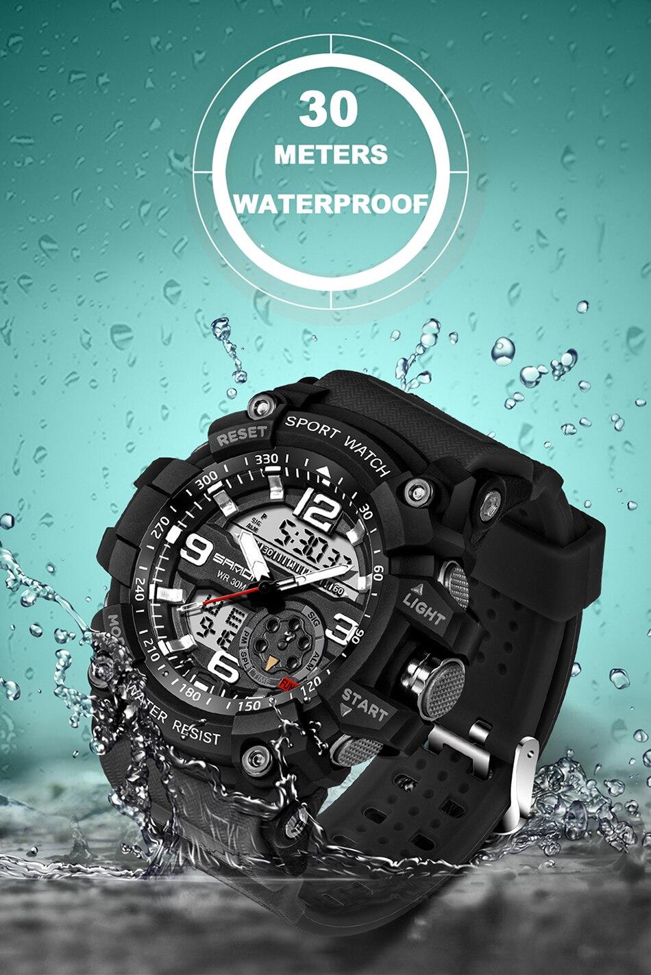 HTB15jurl3KTBuNkSne1q6yJoXXaf SANDA 759 Sports Men's Watches Top Brand Luxury Military Quartz Watch Men Waterproof S Shock Wristwatches relogio masculino 2019