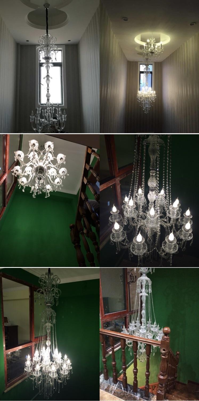 Елегантен кристален полилей Модерен - Вътрешно осветление - Снимка 4