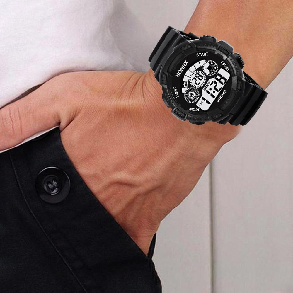 100% QualitäT Mode Marke Männer Led Digital Sport Militär Gummi Quarzuhr Alarm Wasserdicht Relogio Masculino Uhr Dropshipping & Ff Moderater Preis