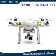 Hot DJI Phantom 3 UHD Professional quadcopter RC Drone RTF GPS FPV With 4K 1080P HD Camera, luxury suitcase package,super safe(China)