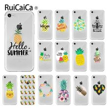 Ruicaica Summer fruit pineapple Pattern TPU Soft Phone Cell Case for iPhone 6S 6plus 7 7plus 8 8Plus X Xs MAX 5 5S XR