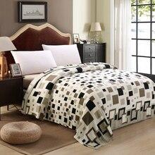 Бренд супер дешево покрывало в клетку одеяло для кроватей Плед флисовый плед зимние украшения для дома