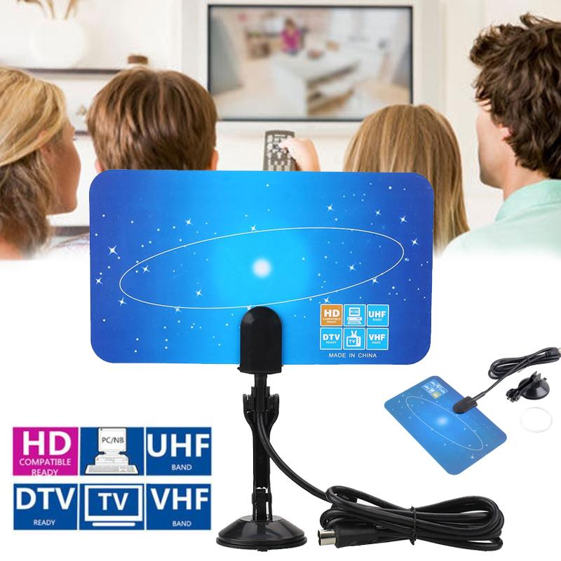 New Arrival HDTV DTV VHF UHF PC NB Flat Design Digital Ultra-Thin Indoor HD TV High Gain Antenna Wholesale EU plug