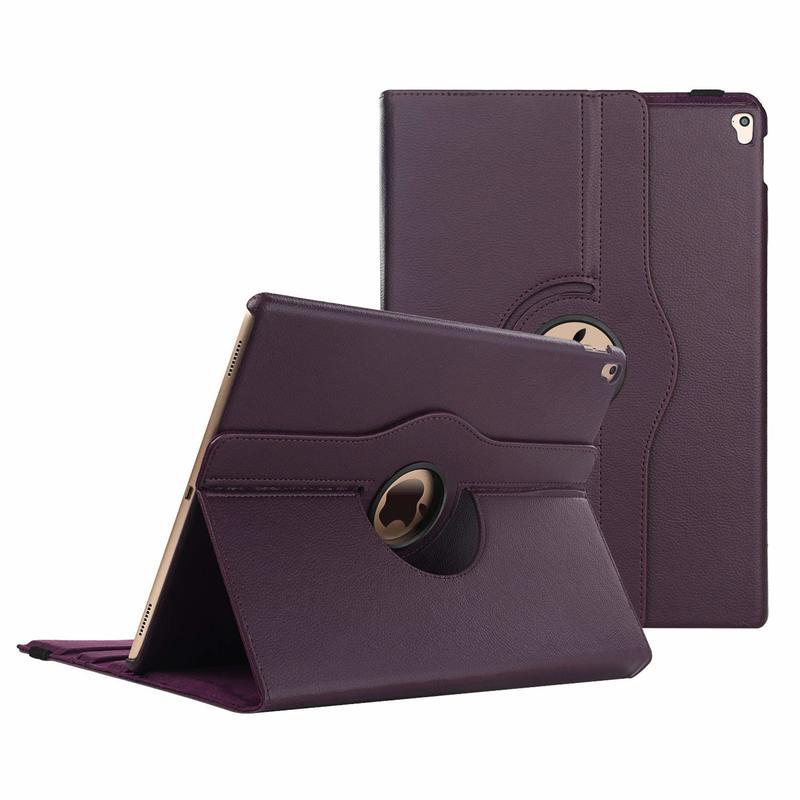"High-Quality Apple iPAD Pro 12.9/"" PU Leather Case Cover w// 360 Rotating Stand"