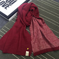 Spain Solid Color Small Pineapple Double Thicken Imitation Cashmere Scarf Warm Wool Scarves Male and Female Winter Couple Scarf