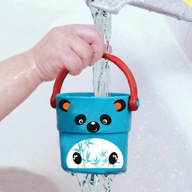 طفل دش أطفال ألعاب حمام صب دلو الاستحمام المياه الرش أداة لطيف تدفق كوب نمط الطفل الأطفال لعبة لون عشوائي