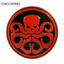 Agents of S.H.I.E.L.D. Hydra Round Shape Cool Big Buckle Belts Metal Brand Designer For Men Width 4CM Belt Zinc Alloy Fivelas