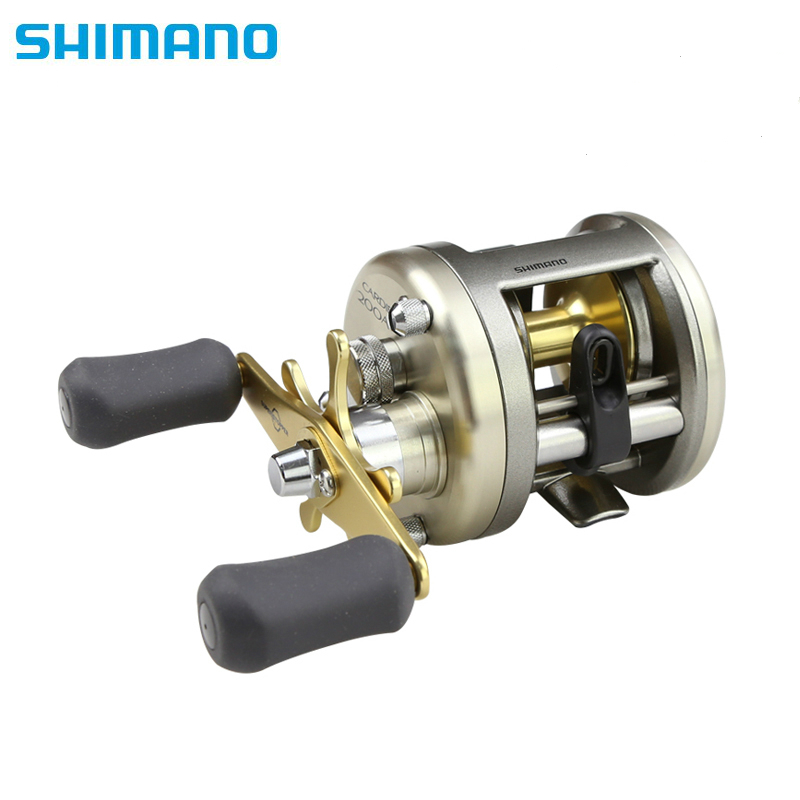 Original Shimano CARDIFF 200 300 400 Round Baitcatsing Reel Left Right Hand Saltwater Drum Round Baitcaster