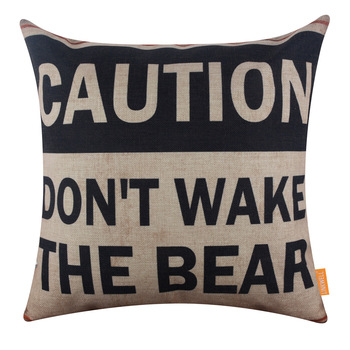 Wake The Bear Cushion Cover