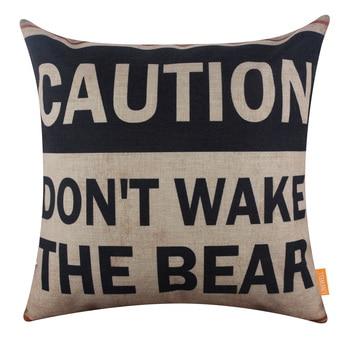 Wake The Bear Cushion Cover