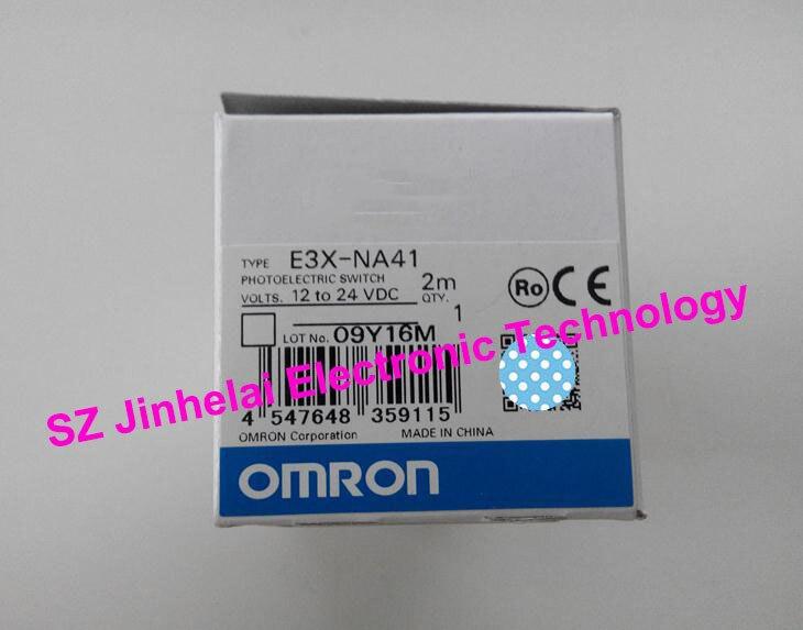 100% Authentic original E3X-NA41, E3X-NA41V OMRON Photoelectric switch 12-24VDC 2M 100% new and original e3x na11 e3x zd41 omron photoelectric switch 12 24vdc 2m