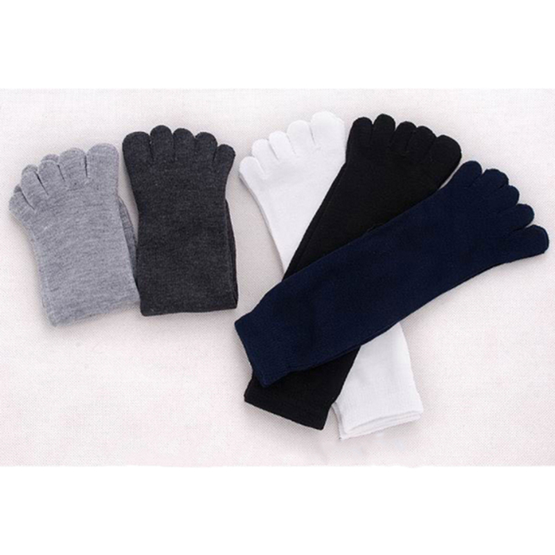 1 Pair New Male Autumn Winter Polyester Cotton Warm Style Men Five Finger Pure Cotton Sock 5 Colors Accessories