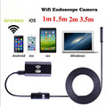 1/1.5/2/3.5m 8mm WIFI Endoscope Waterproof Borescope 1.0MP Camera Lens Borescope Inspection Snake Tube Camera For ios Android
