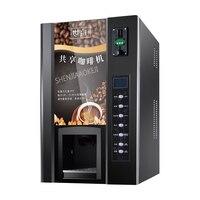 Coin operated мгновенный кофе машина светодио дный дисплей коммерческий автоматический горячий и холодный напиток молоко чай оборудование 1600 Вт