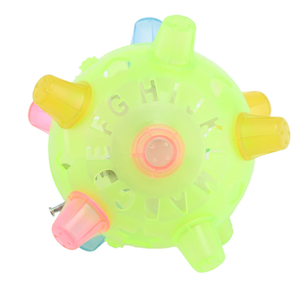 Kids Funny Dancing Jumping Ball Kids Educational Toys Sensitive Vibrating Power Flashing Toy with Music Send by Random