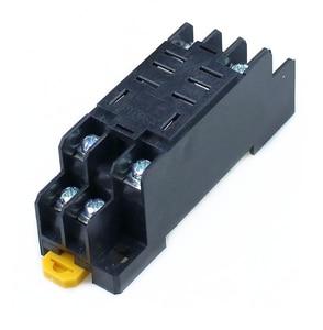 Image 5 - 10 pz relè LY2NJ DC12V DC24V AC110V AC220V piccolo relè 10A 8 pin bobina DPDT con Base presa