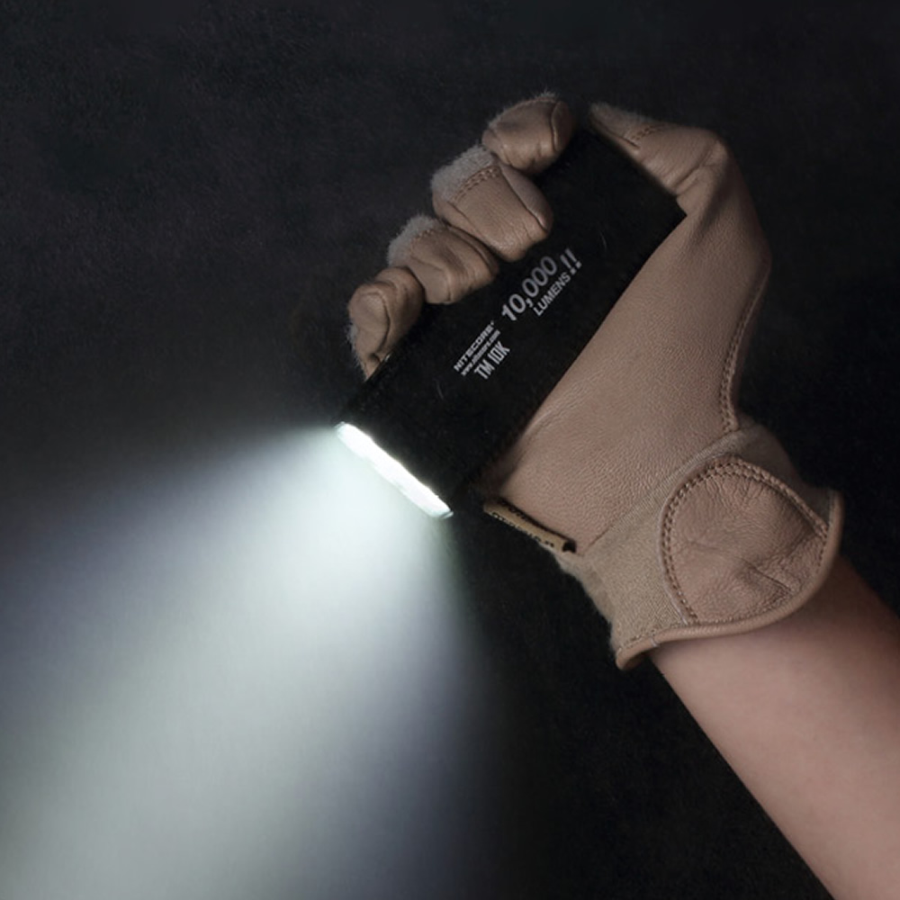 1PC  NITECORE TM10K LED Flashlight Small Monster CREE XHP35 HD 10000 LM Rechargeable High Light Built-in Flashlight 48