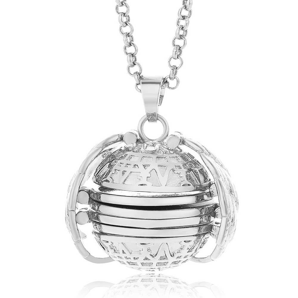 Расширение фото медальон ожерелье кулон для женщин семья ювелирные изделия Изысканный подарок Крылья Ангела Свадебные аксессуары украшения крутящий момент