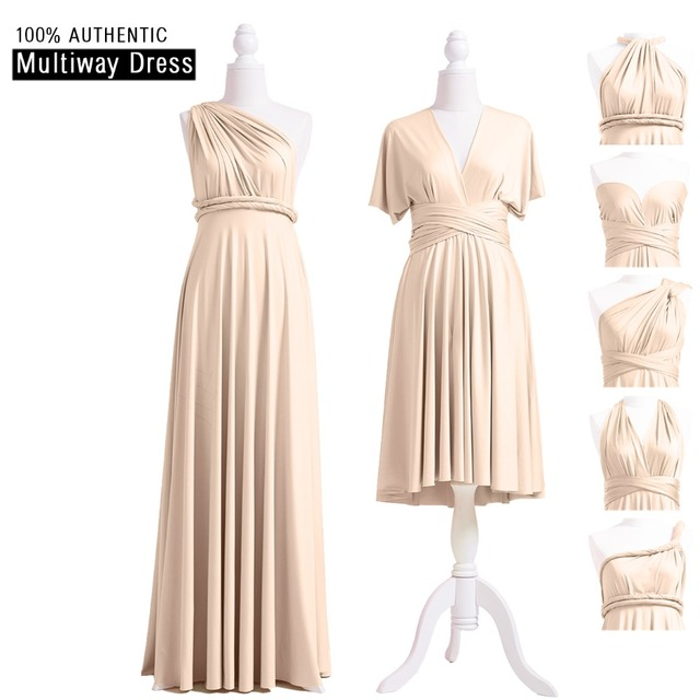 Champagne Bridesmaid Dress Multiway Long