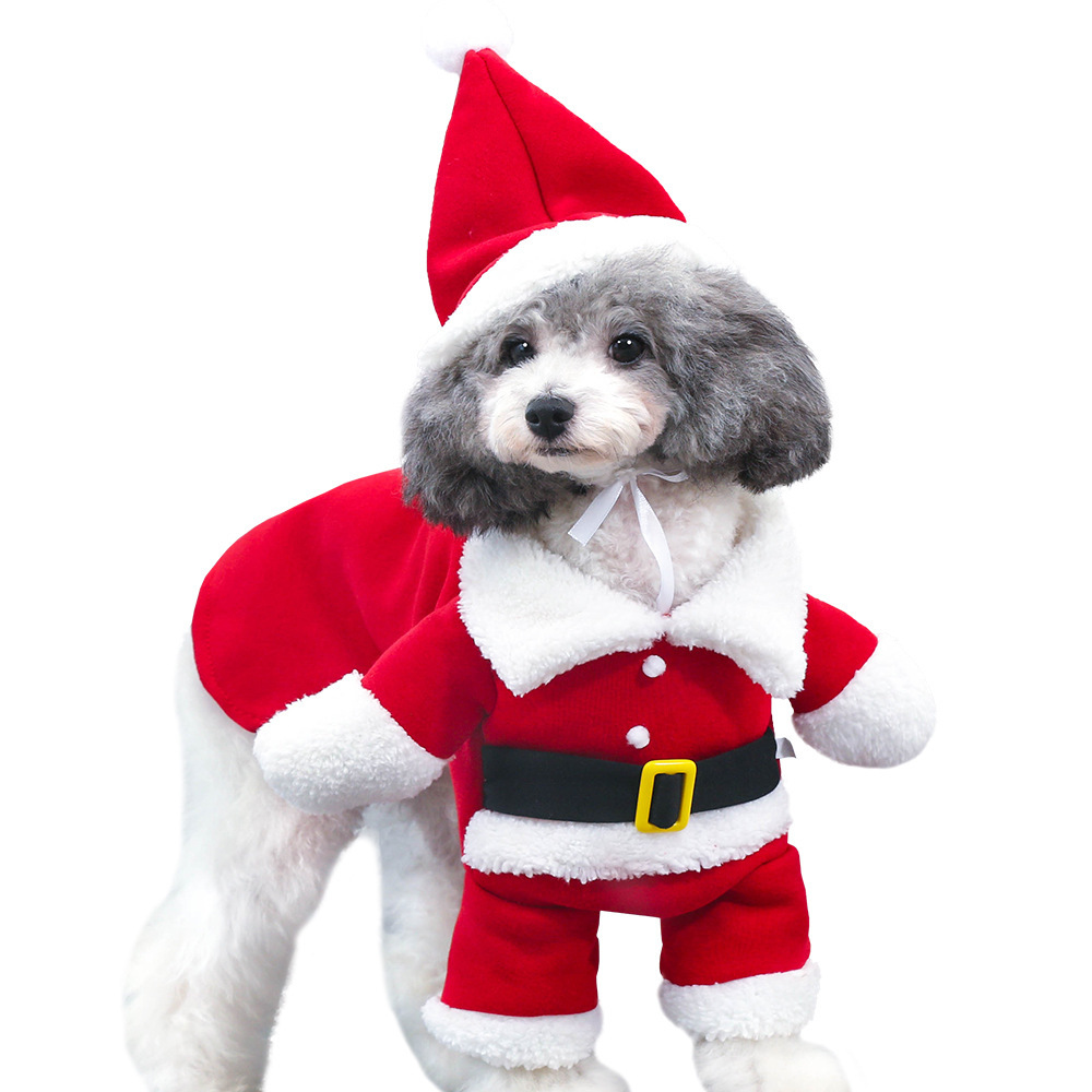 Christmas Pet Costumes.Us 6 45 New Christmas Pet Dog Cat Costumes Funny Santa Claus Costume For Small Dogs Winter Warm Puppy Pet Clothes Chihuahua Pug Clothing In Dog