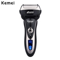 Kemei Electric Shaver Quick Charge Whole Body Washable Reciprocating Razor Men Beard Shaving Hair Clipper Trimmer Wireless Use