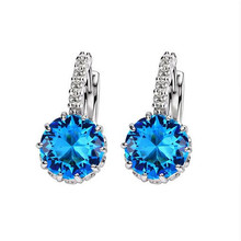 JEXXI So Luxury Colorful 2017 Genuine 925 Sterling Silver Jewelry AAA Cubic Zirconia CZ Earrings Women Part Accessories Gift