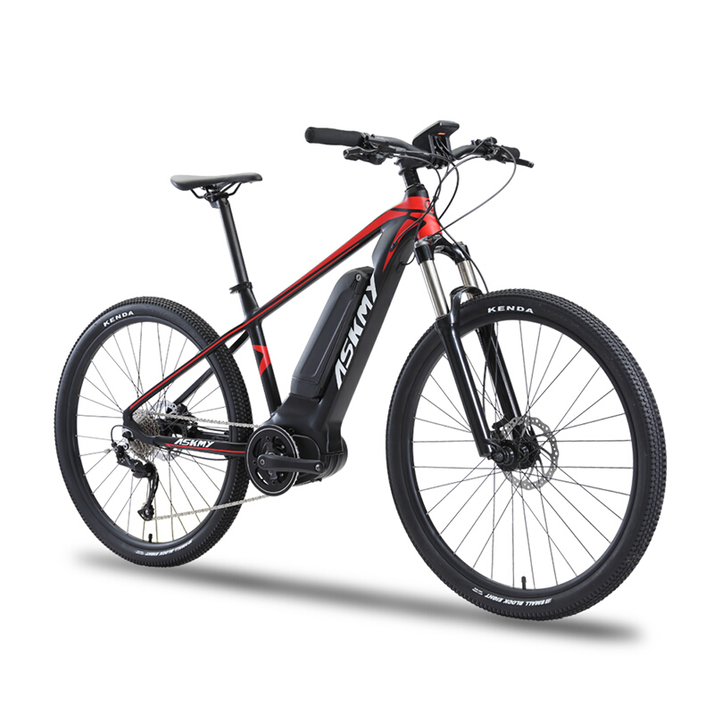 Cycling Able Carbon Fiber Electric Mountain Bicycle 27.5inch Hybrid Carbon Fiber Smart Lithium Pas Middle Motor Mtb Deroe Ebike City