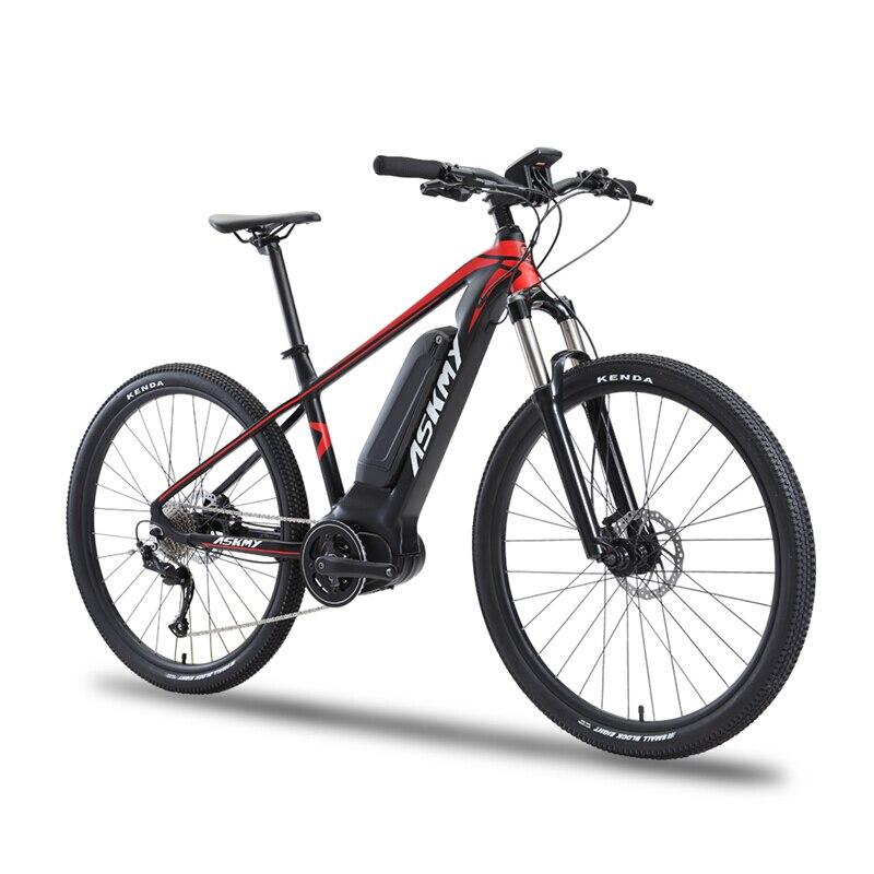 Vélo de montagne électrique 27.5 pouces 36V250W bafang vélo hybride mi-moteur vélo électrique e-bike 9 vitesses EMTB smart LCD vélo tout-terrain