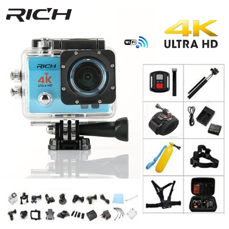 RICH 4K Action camera Q5 pro Ultra HD WiFi Full 1080P Sports camera 60fps Sport Dv Cam go underwater waterproof Helmet Cameras wimius 4k action cam wifi 20m mini sport helmet fpv camera full hd 1080p go waterproof underwater 30m pro dvr for bike motorcyle