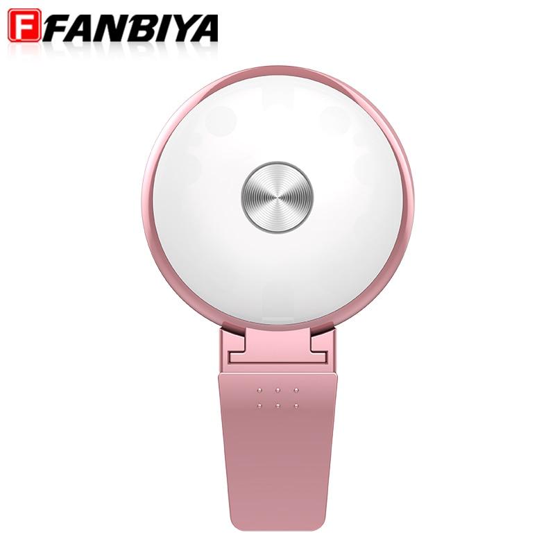 FANBIYA Universal Selfie Flash Light Lens for iphone 7 7plus 6s LED Lamp Camera Luminous Phone Ring Flash Lenses for samsung