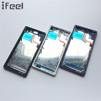 New Front Middle Frame Bezel Plate Chassis Housing For Sony Xperia Z2 L50w D6503 D6502 Black