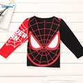 In The Autumn 2017 New Arrival Children Clothes Cotton Print Casual Cartoon Spider Man Cool Boys Fashion Clothes T1860