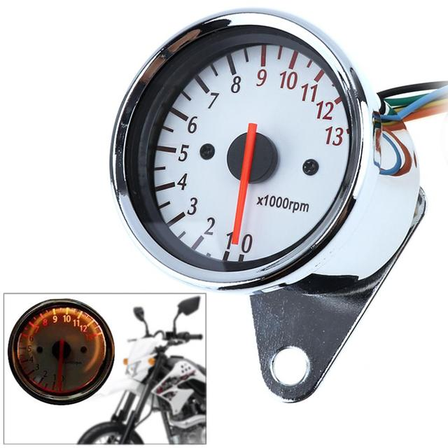 General Purpose 13000 Rpm 12v Motorcycle White Chassis 5 Wire Speed