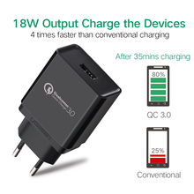 Ugreen Phone Charger Qualcomm Quick Charge 3.0 18W Fast USB Charger (Quick Charge 2.0 Compatible) for Samsung Xiaomi 5 Huawei lg