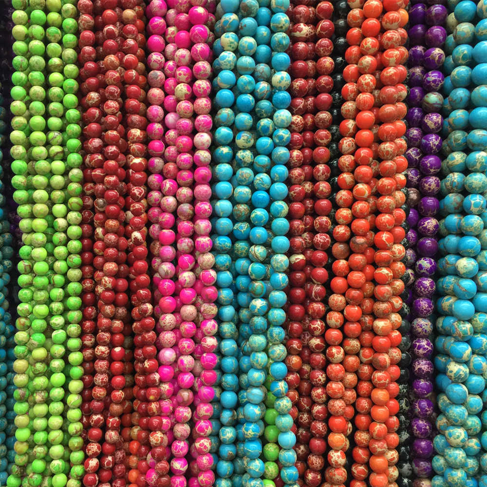 10 pcs 8mm  NEW Natural color stone Round Beads Fit Jewelry DIY making Braceletse make