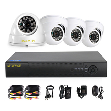 AHWVSE 4CH CCTV System 720P HDMI AHD CCTV DVR 4PCS 1.0 MP IR Outdoor Security Camera 1200 TVL Camera Surveillance Kit