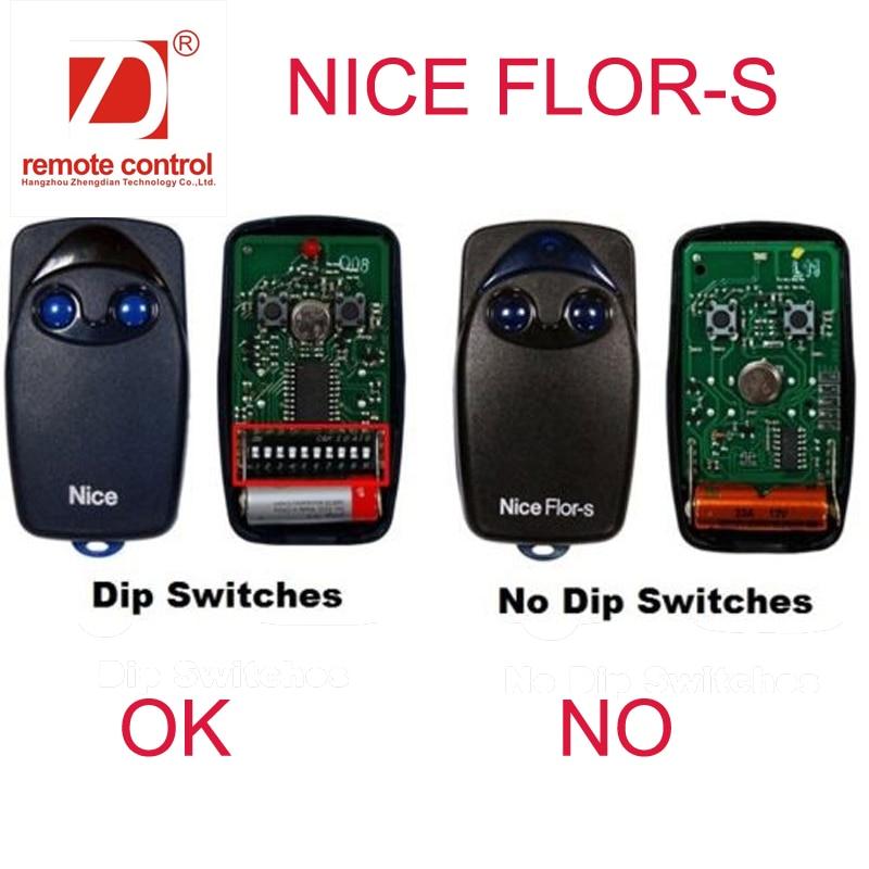 Super Duplicator For Nice Flor S Dip Switch Remote Comtrol 433mhz