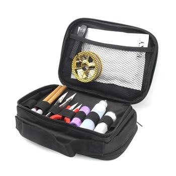 Double-deck Vape Pocket Vapor Tool Wire Bottle Kit Bag For RTA RBA RDA Mods Box Battery DIY Tools Carry Bag Case Vape Pocket цена 2017