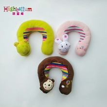 U-style Baby Pillow New Cute Baby Pillow U Shape Headrest Cartoon Design Kids Baby Pillow Neck Protector Travel Toys For 2 Years