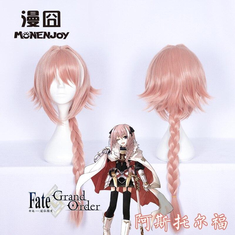 Fate Apocrypha Astolfo Wig Cosplay Costume Astolfo Twist Hair Wig