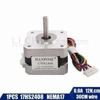 Free shipping CE certification 1 PCS 17HS2408 4-lead Nema 17 Stepper Motor 42 motor 42BYGH 0.6A CECNC Laser and 3D printer motor