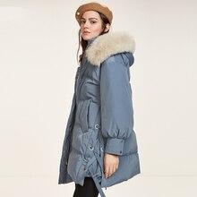 Russian Winter Women Down Coat Thick Warm 90% Duck